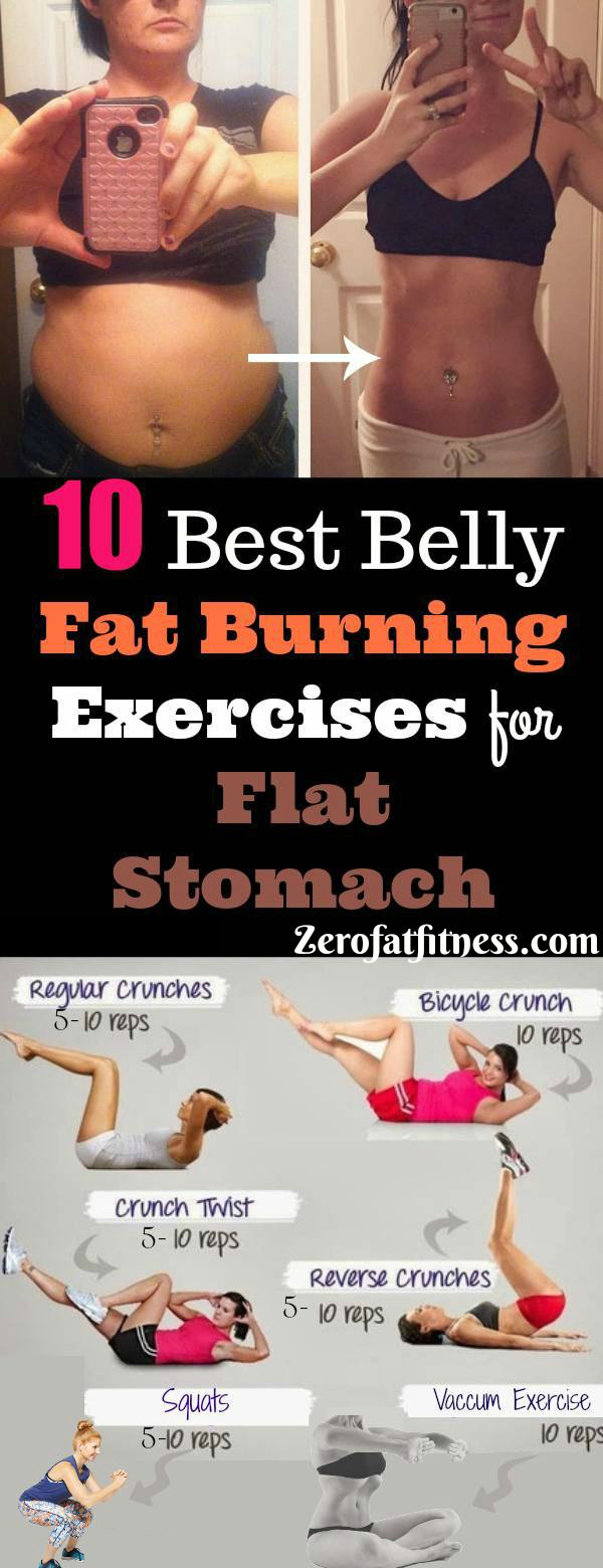 Fat Burning Workout At Home Flat Stomach  10 Best Belly Fat Burning Exercises for Flat Stomach at
