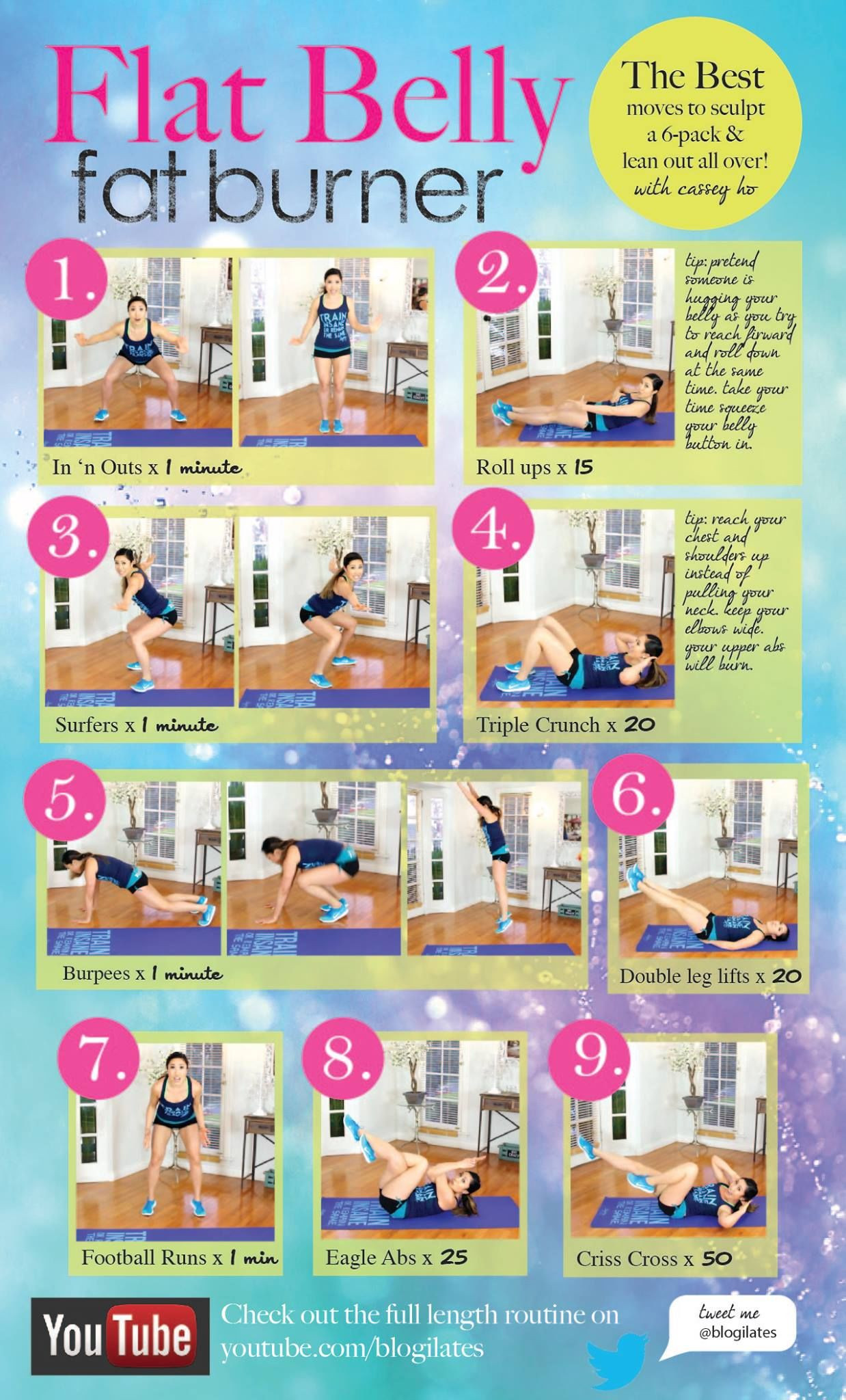 Fat Burning Workout At Home Flat Stomach  Flat Belly Fat Burner Workout s and