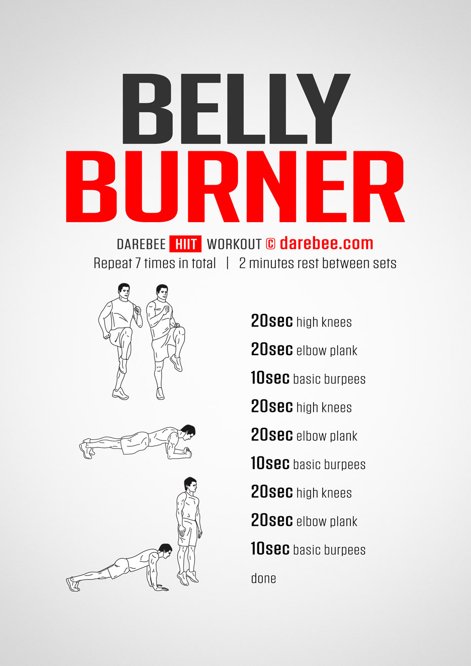 Fat Burning Workout For Men At Home  Belly Burner Workout
