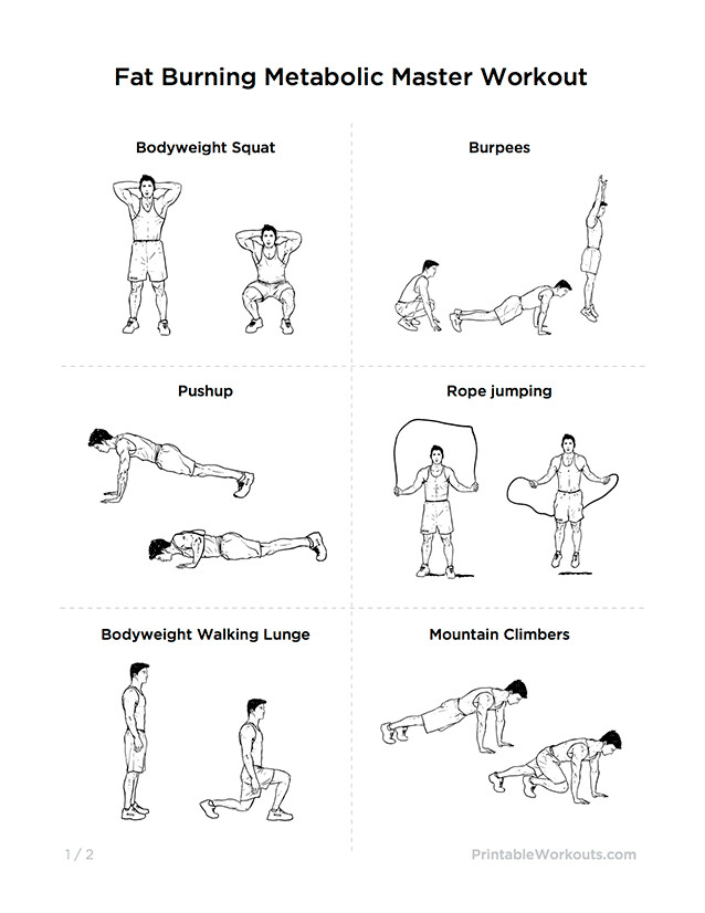 Fat Burning Workout For Men At Home Losing Weight  How To Lose Weight From Home