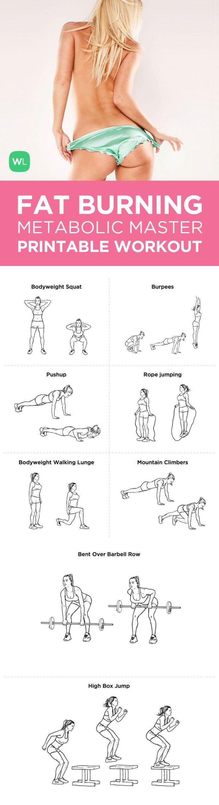 Fat Burning Workout For Men At Home  Pin on fit woman MIRIN