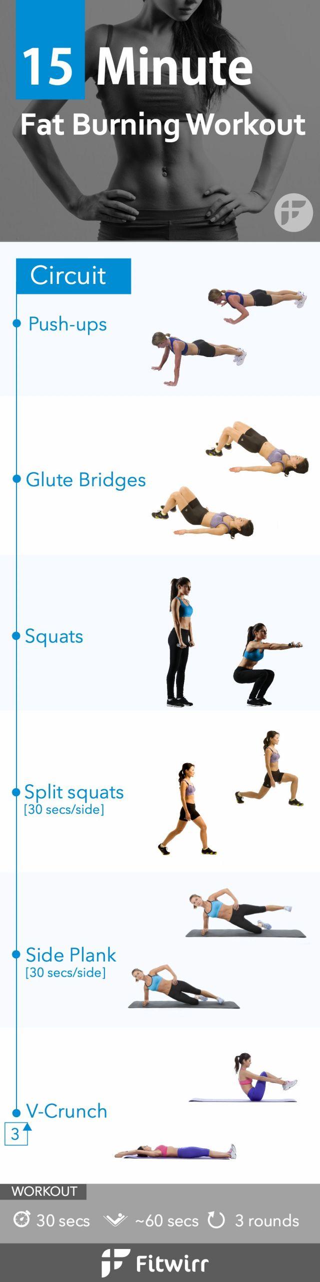 Fat Burning Workout Tiktok  15 Minute Bodyweight Fat Loss Workout for Women
