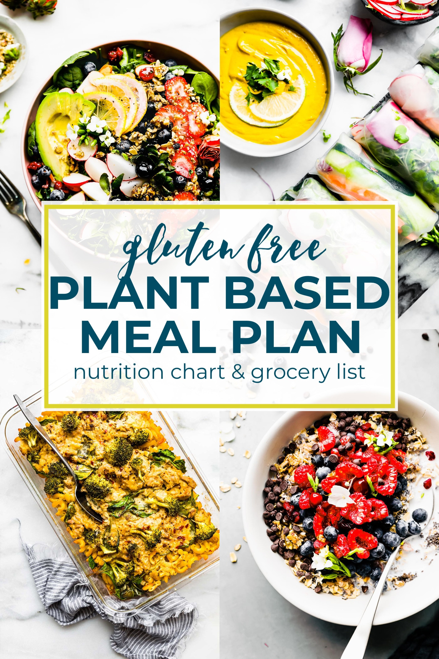 Gluten Free Plant Based Diet  Plant Based Foods Meal Plan and Grocery Shopping List