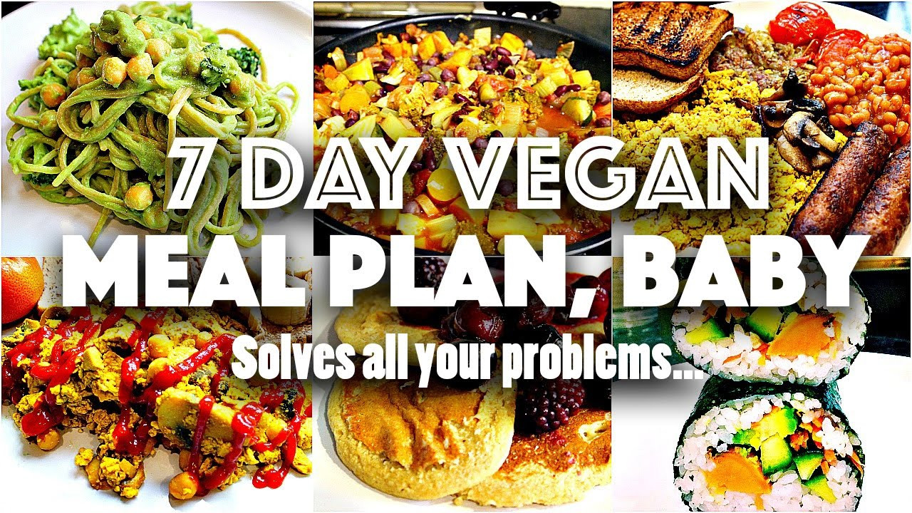 Going Vegan Plan  7 DAY VEGAN CHALLENGE MEAL PLAN Easy go to recipes