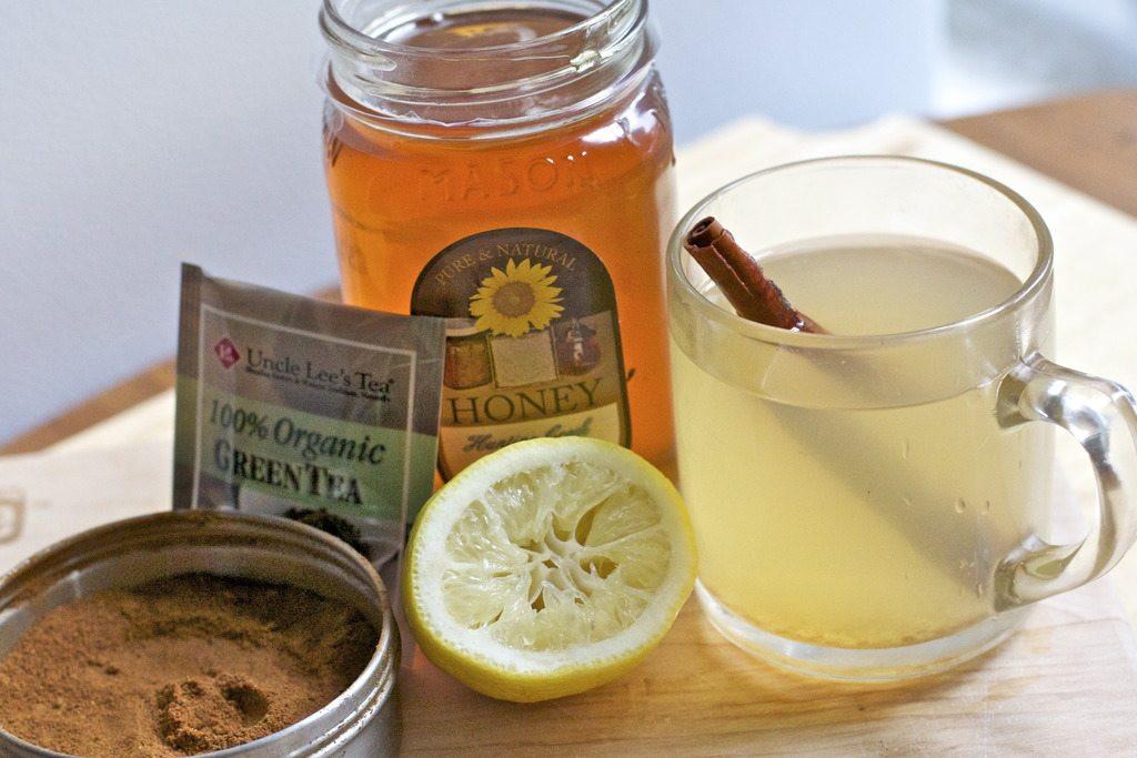 Green Tea Weight Loss Drink Detox Waters  Green Tea Lemon Water Cayenne Cinnamon Honey