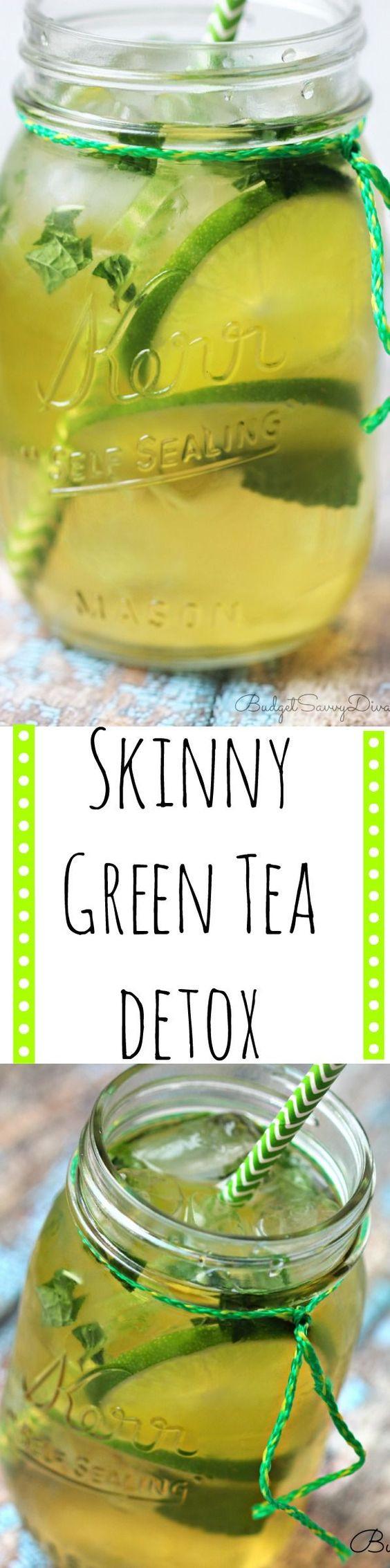 Green Tea Weight Loss Drink Detox Waters  Skinny Green Tea Detox Recipe