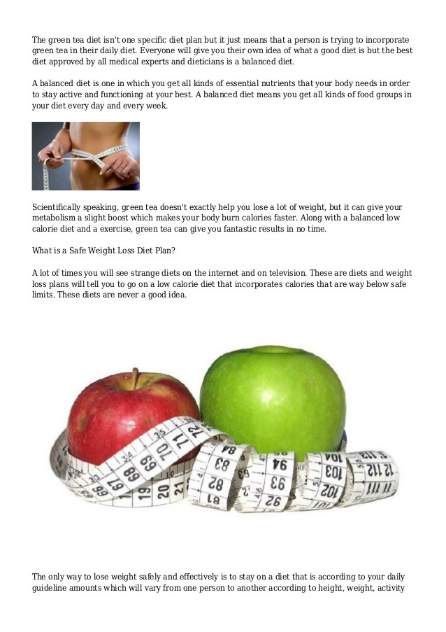 Green Tea Weight Loss Plan  Lose Weight Fast with Green Tea Diet