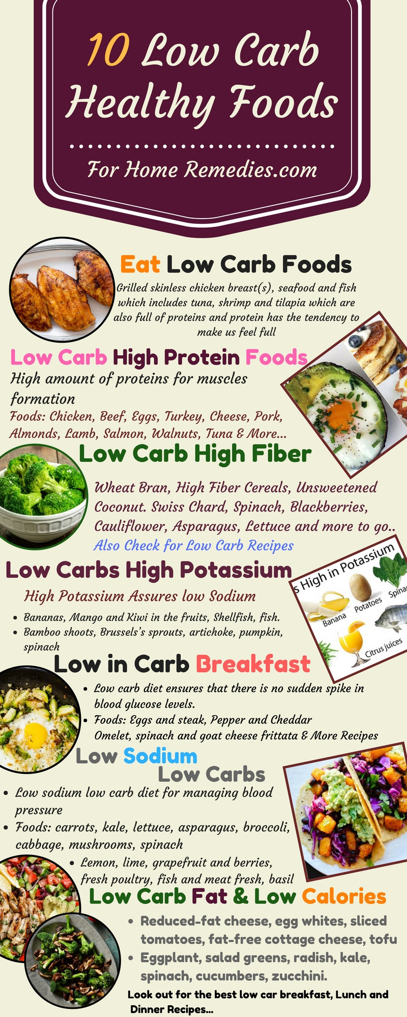 High Protein Low Carb Low Fat Diet  10 Low Carb Foods Low Fat Sugar High Protein Fiber