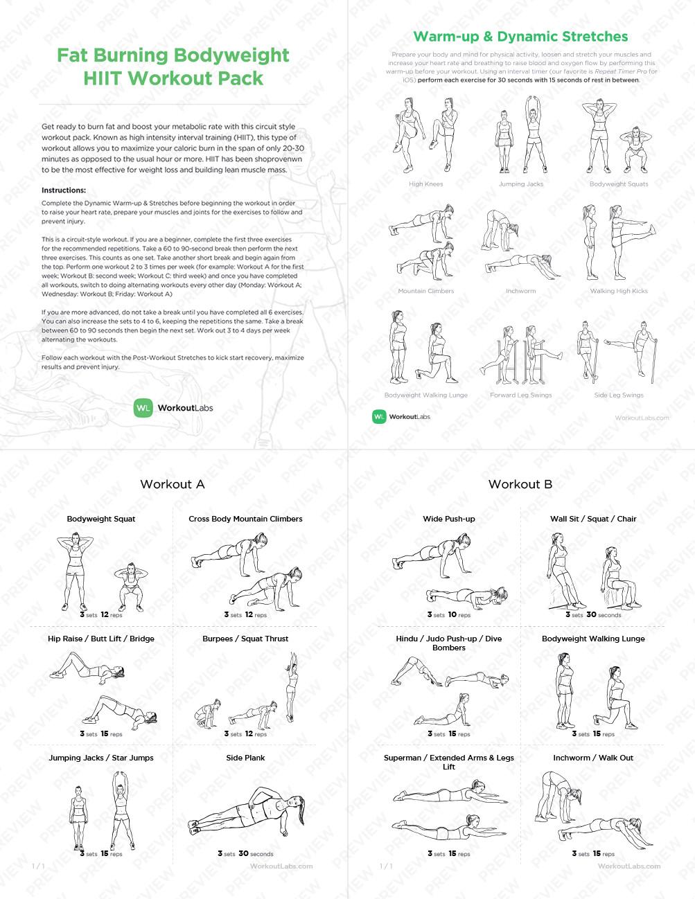 Hiit Fat Burning Workouts  Fat Burning Metabolic Master Bodyweight HIIT Workout Pack