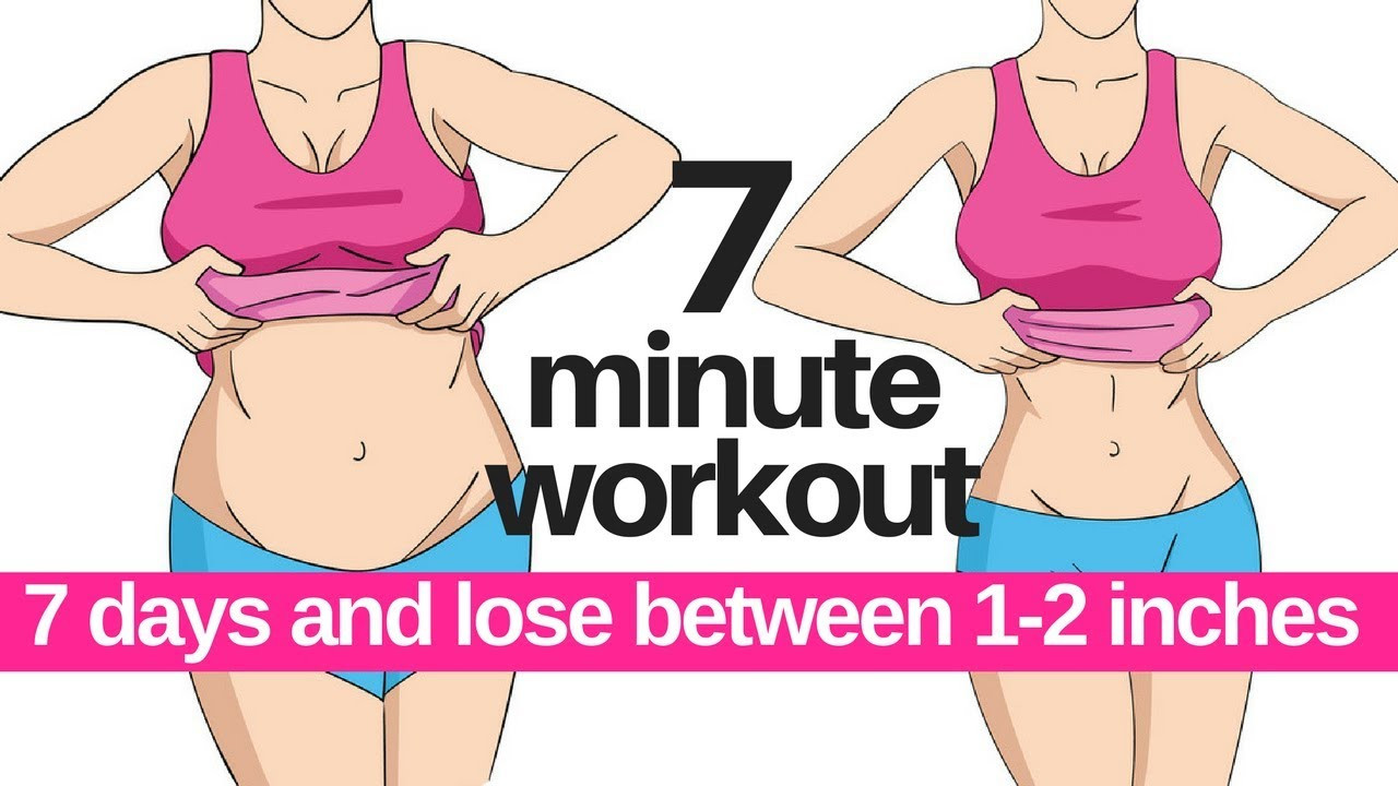 How To Lose Belly Fat In 7 Days  7 DAY CHALLENGE 7 MINUTE WORKOUT TO LOSE BELLY FAT