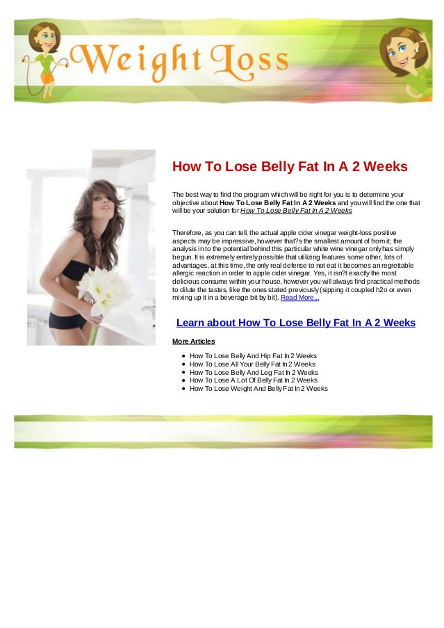 How To Lose Belly Fat In A Week  How to lose belly fat in a 2 weeks