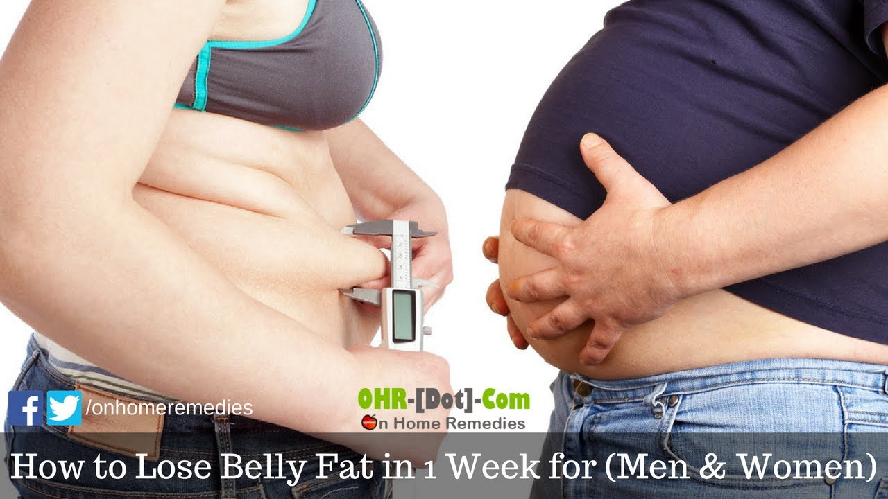 How To Lose Belly Fat In A Week  How to Lose Belly Fat in 1 Week for Men & Women