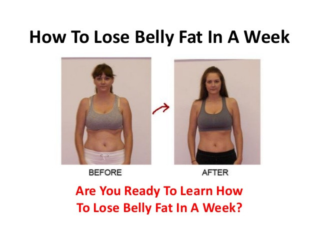 How To Lose Belly Fat In One Week  How To Lose Belly Fat In A Week
