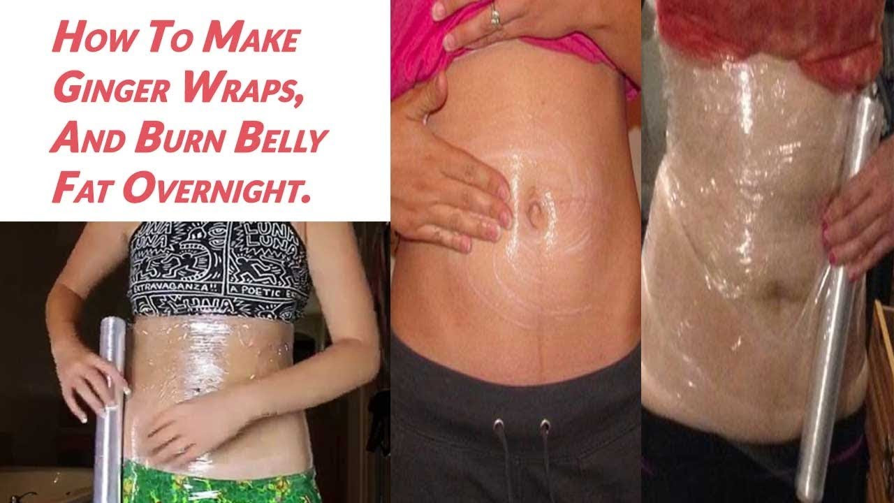 How To Lose Belly Fat Overnight Diy Body Wrap  Make Homemade ginger body wrap And lose Belly Fat