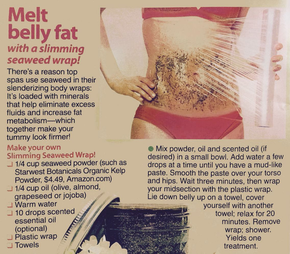 How To Lose Belly Fat Overnight Diy Body Wrap  Melt belly fat with seaweed body wrap Make your own