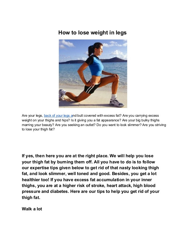 How To Lose Weight In Your Thighs  Lose weight in legs best exercise to lose weight in your