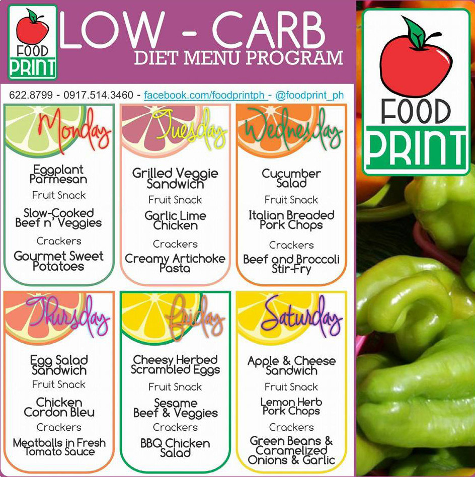 Low Carb Diet Meal Plan Philippines  Healthy Diet Menu Philippines Diet Plan