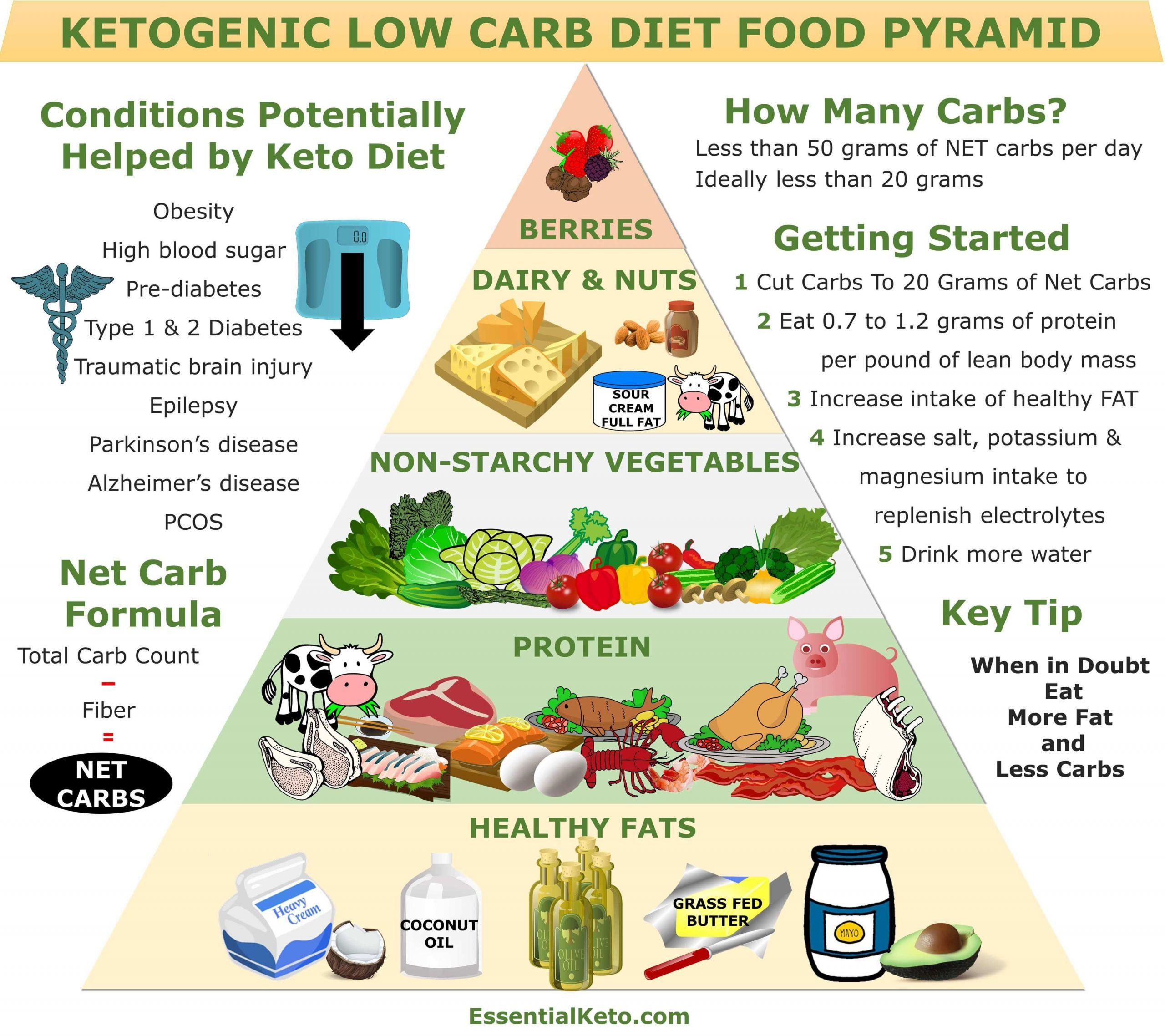 Low Carb Diet Not Keto  Keto Food Pyramid
