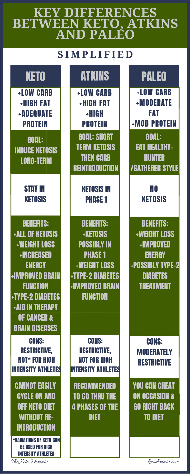 Low Carb Diet Not Keto  Key Differences Between the Keto Diet Atkins and Paleo