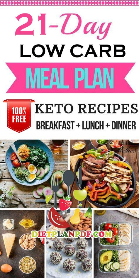 Low Carb Diet Plan 21 Days Losing Weight  Free 7 Day 1 Week Low Carb Diet Weight Loss Meal Plan
