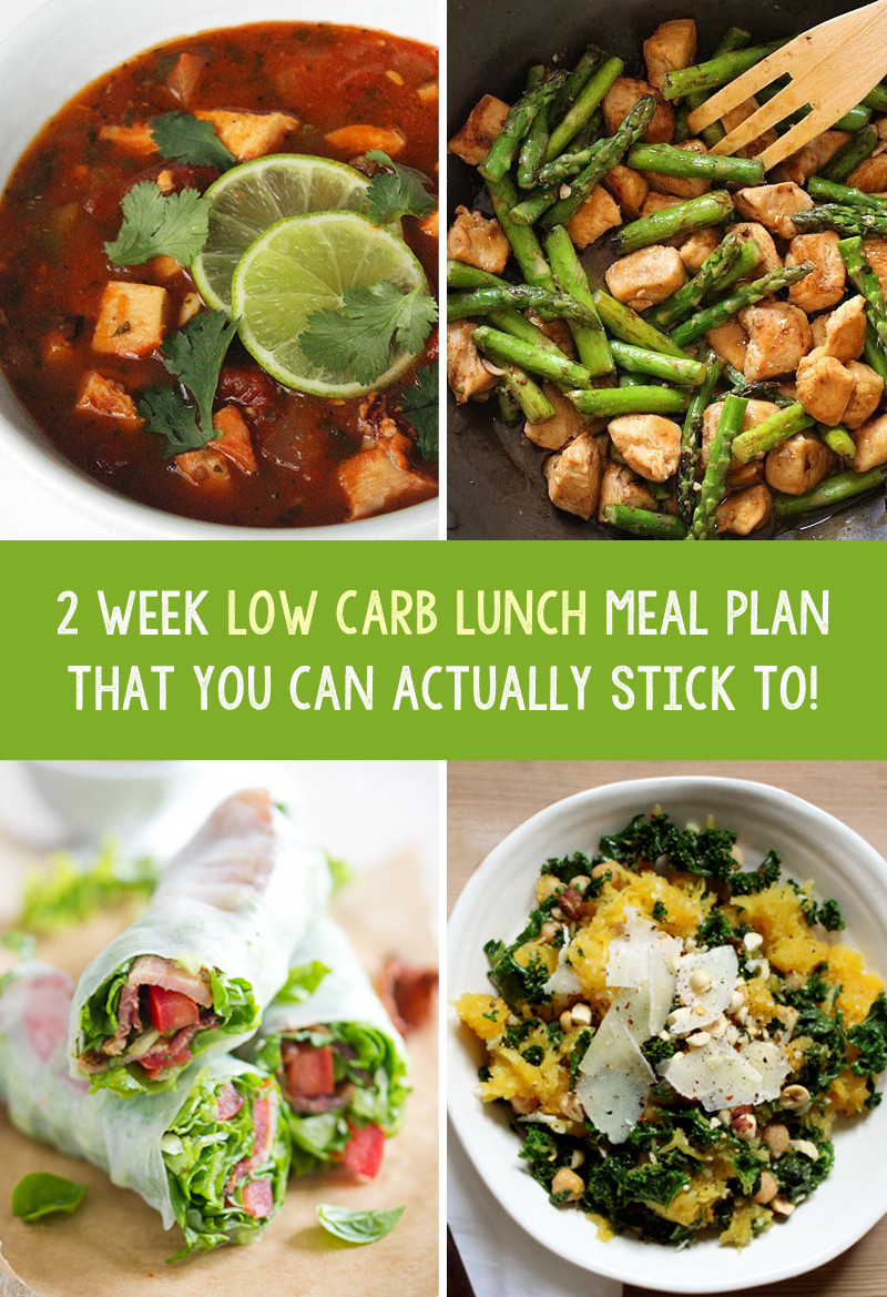 Low Carb Diet Recipes Losing Weight  2 Week Low Carb Weight Loss Lunch Meal Plan That You Can