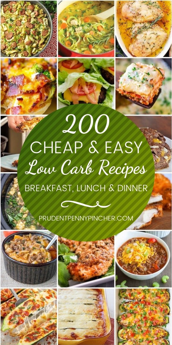 Low Carb Diet Recipes  200 Cheap & Easy Low Carb Recipes Prudent Penny Pincher