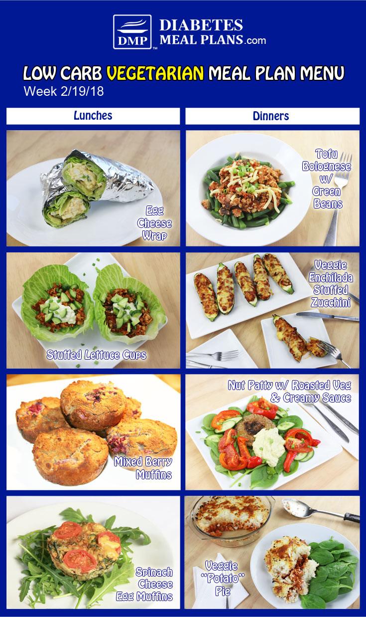 Low Carb Vegan Diet Plan  Low Carb Diabetic Meal Plan Week of 2 19 18