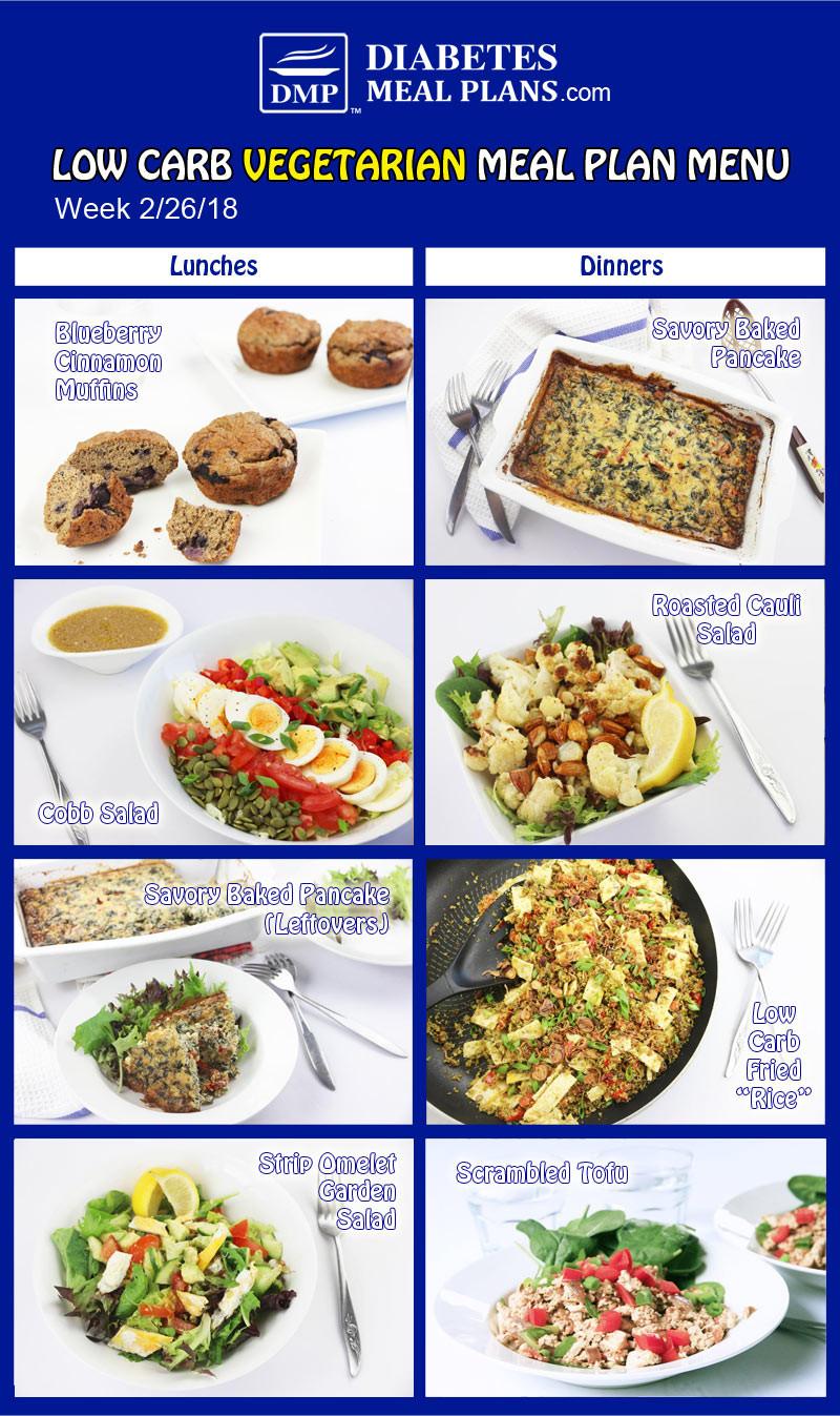 Low Carb Vegan Diet Plan  Low Carb Diabetic Meal Plan Week of 2 26 18