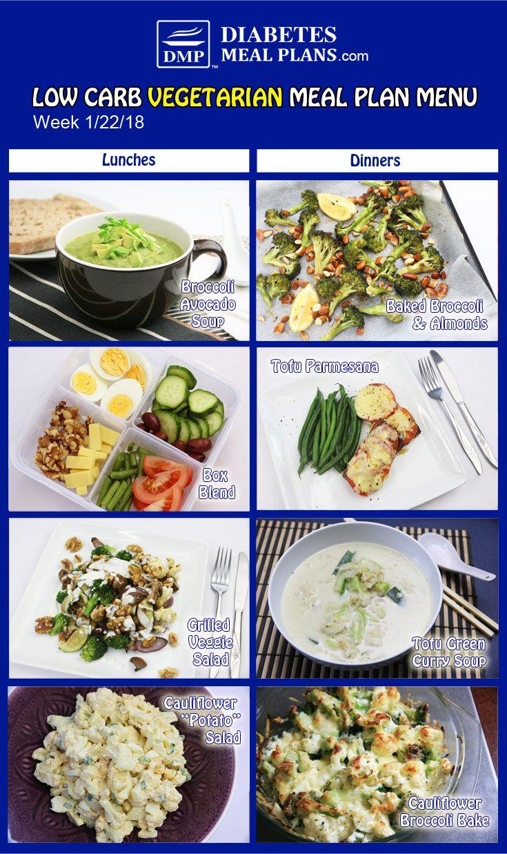 Low Carb Vegan Diet Plan  Pin on Ve arian Diabetic Meal Plans