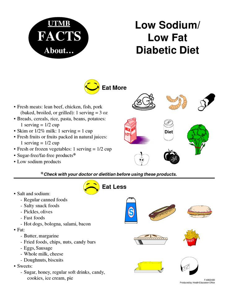 Low Fat Diet For Diabetics  Low sodium low fat diabetic t