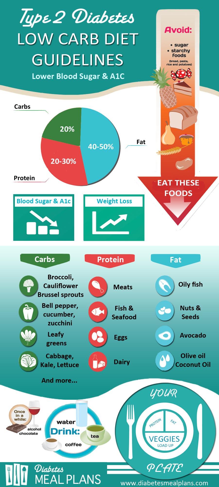 Low Fat Diet For Diabetics  Diabetes Low Carb Diet Guidelines