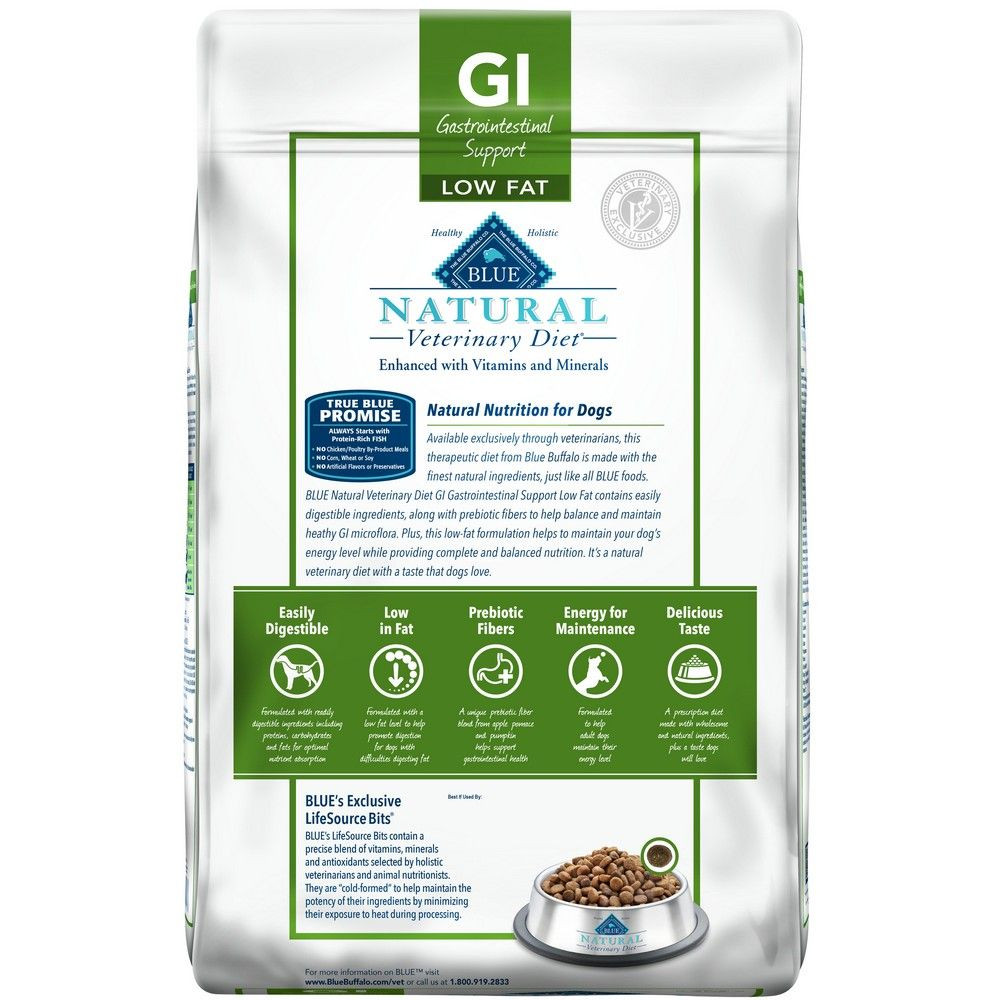 Low Fat Diet For Dogs  GI Gastrointestinal Support Low Fat for Dogs Natural