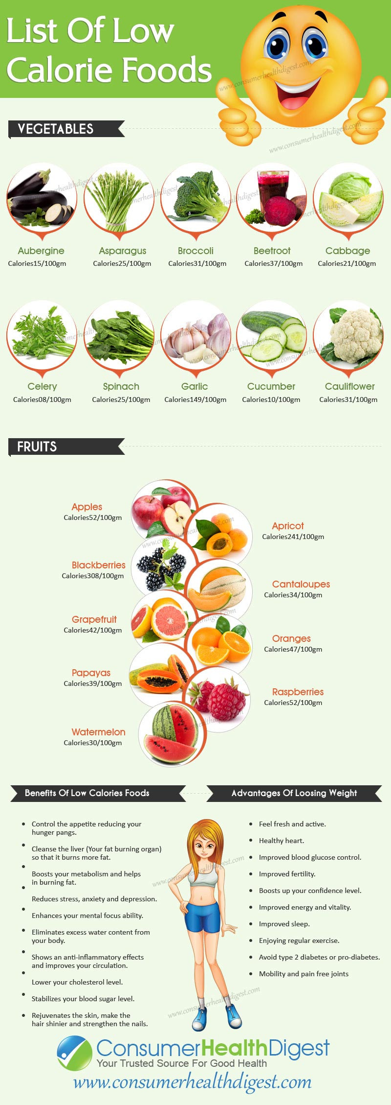 Low Fat Diet Losing Weight Food Lists  Low Calorie Foods For Weight Loss Diet