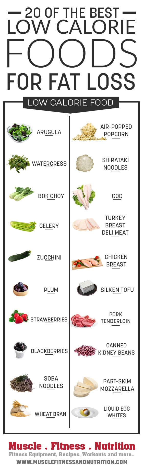 Low Fat Diet Losing Weight Food Lists  20 of the Best Low Calories Foods for Fat Loss