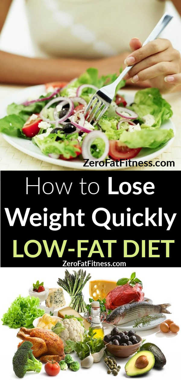 Low Fat Diet Losing Weight  How to Lose Weight Quickly with Low Fat Diet Recipes
