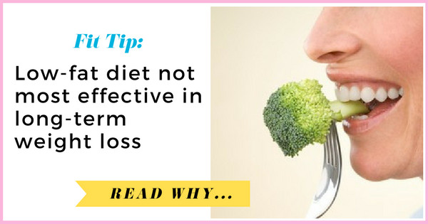 Low Fat Diet Losing Weight  Low fat t not most effective in long term weight loss