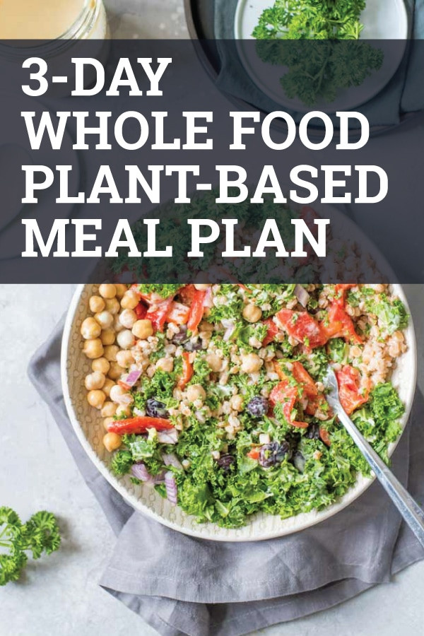Plant Based Diet Meal Plan Recipes  3 Day Whole Food Plant Based Meal Plan