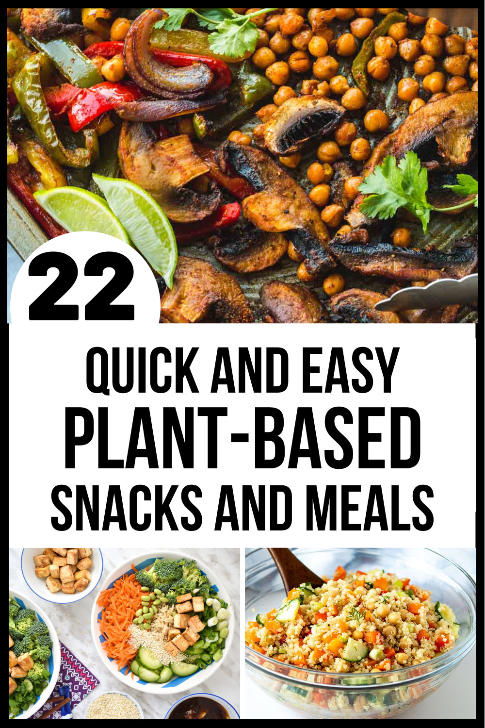 Quick Plant Based Recipes  Quick Plant Based Meals and Snacks