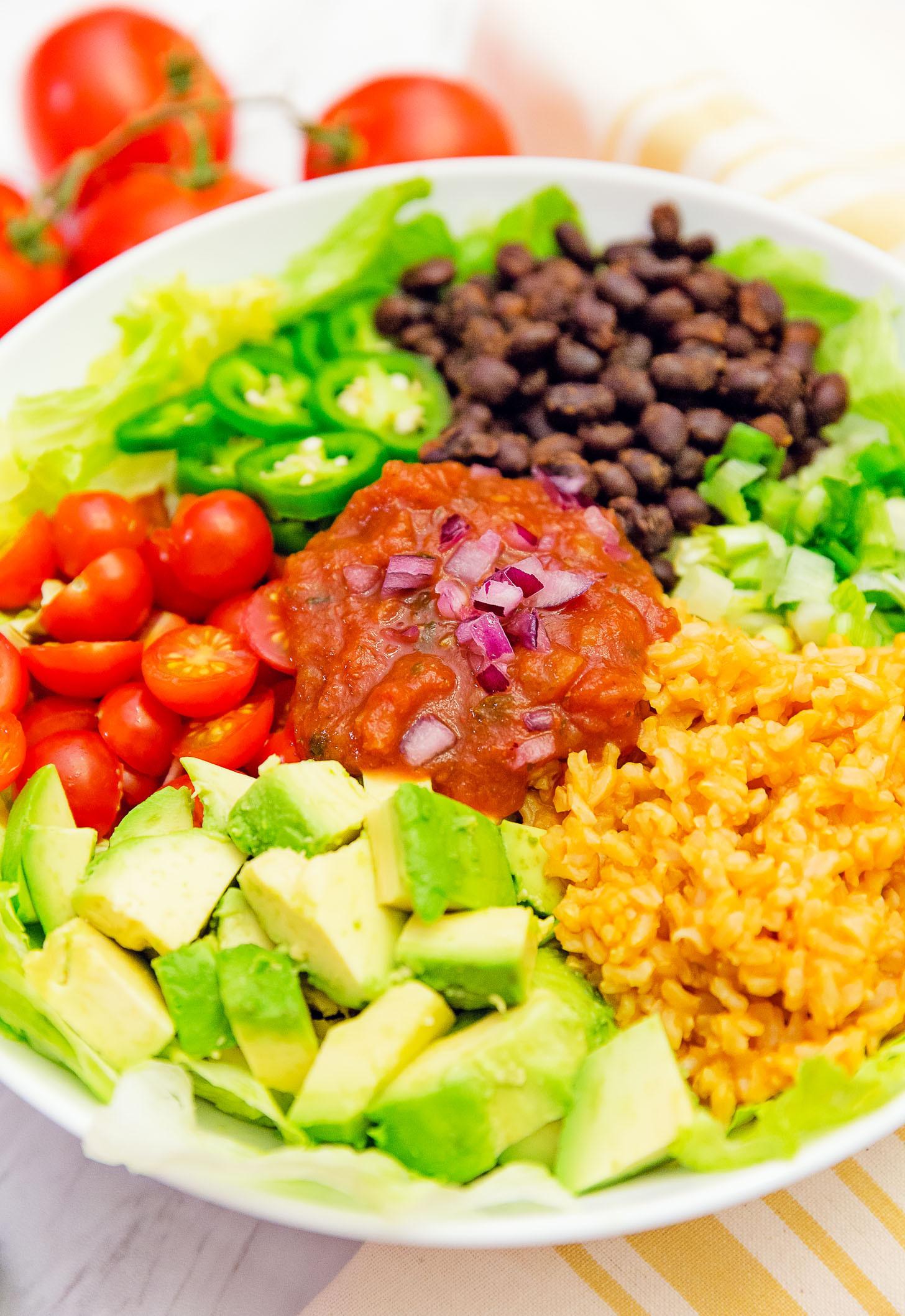 Quick Plant Based Recipes  Salsa Veggie Bowl Monkey and Me Kitchen Adventures