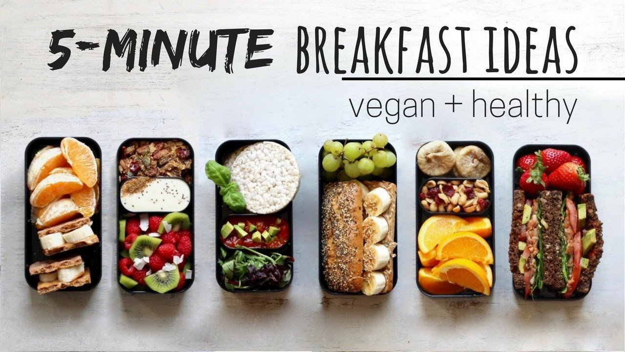 Quick Vegan Breakfast  QUICK VEGAN BREAKFAST IDEAS bento box style