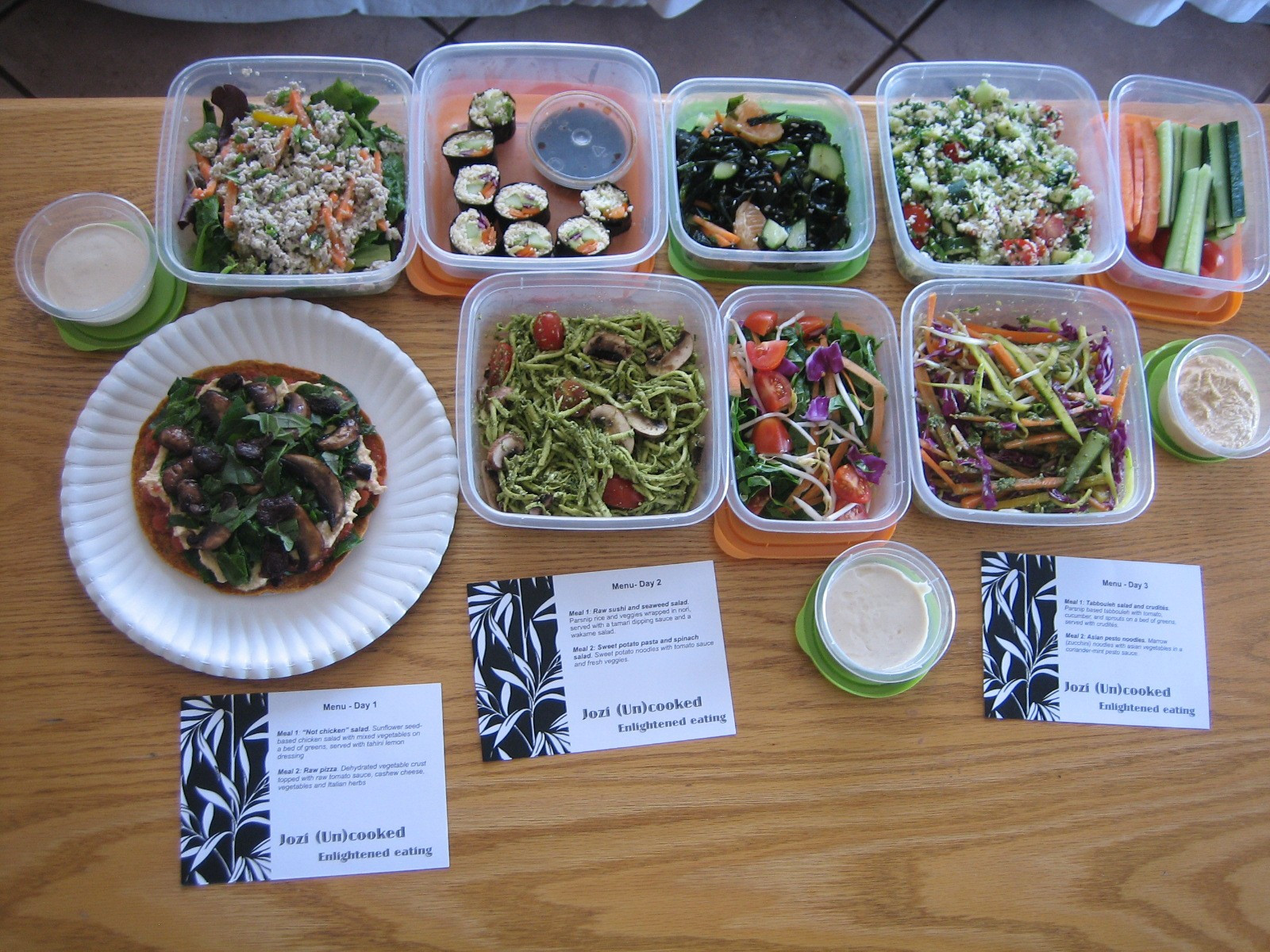 Raw Vegan Plan  Raw vegan meal plan in pictures