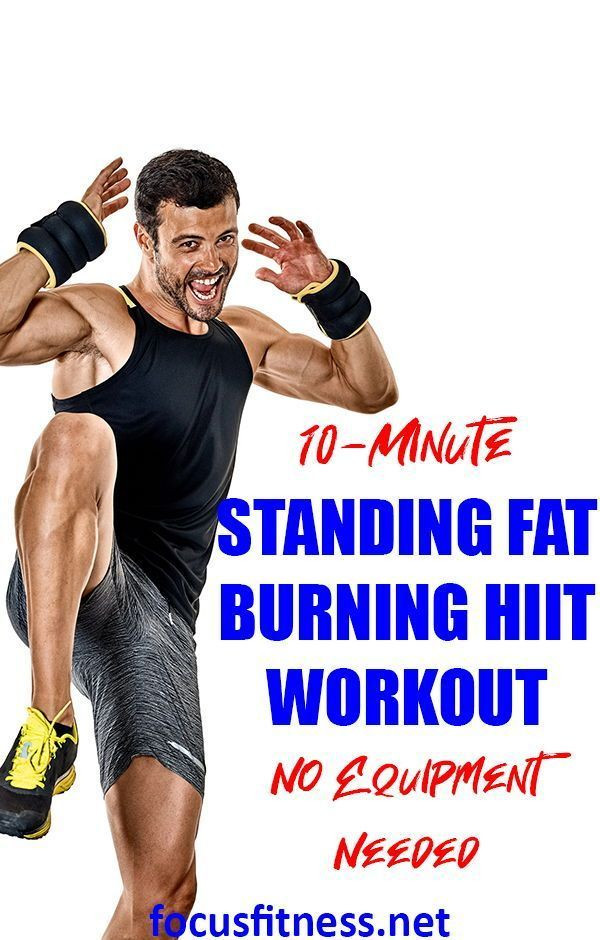 Standing Fat Burning Workout  The Best 10 Minute Standing HIIT Workout for Abs With