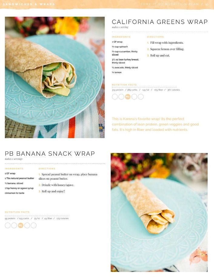 Tone It Up Vegan Plans  Tone it up lunch ideas M3
