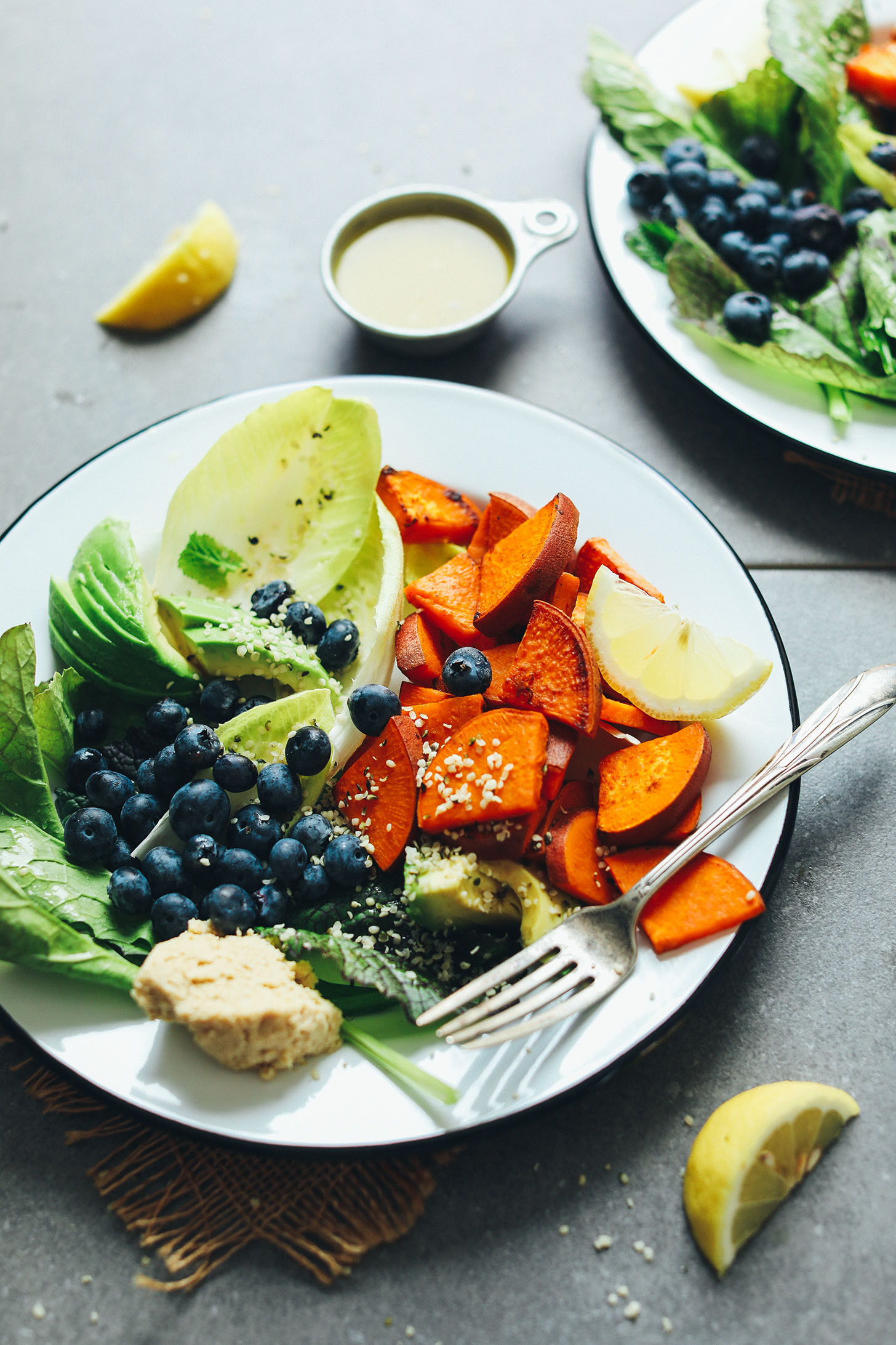Vegan Breakfast Ideas Plant Based  Blueberry Sweet Potato Breakfast Salad