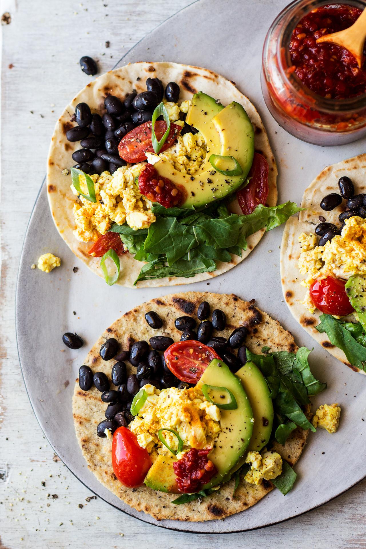 Vegan Breakfast  Vegan breakfast tacos Lazy Cat Kitchen