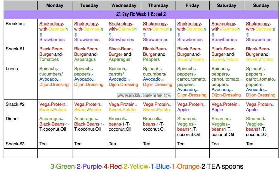 Vegan Diet Plan 21 Days  21 Day Fix Vegan Meal Plan
