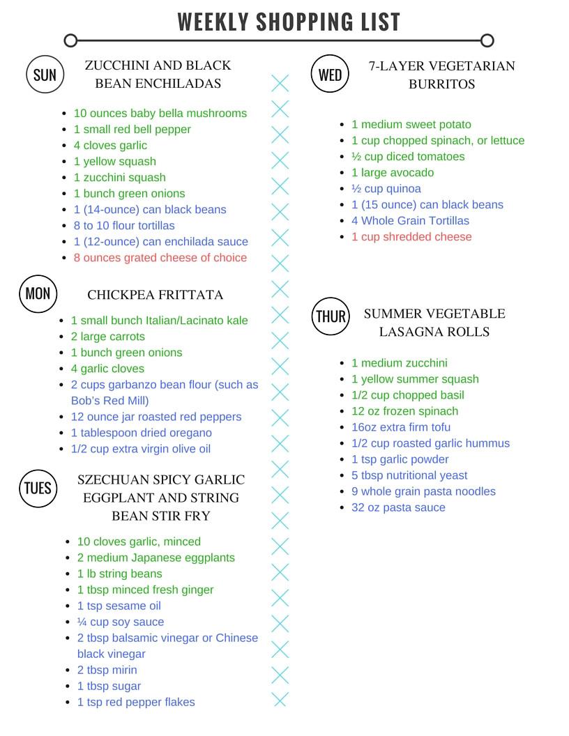 Vegan Diet Plan  Healthy Ve arian Meal Plan Week of 7 16 16 Hummusapien