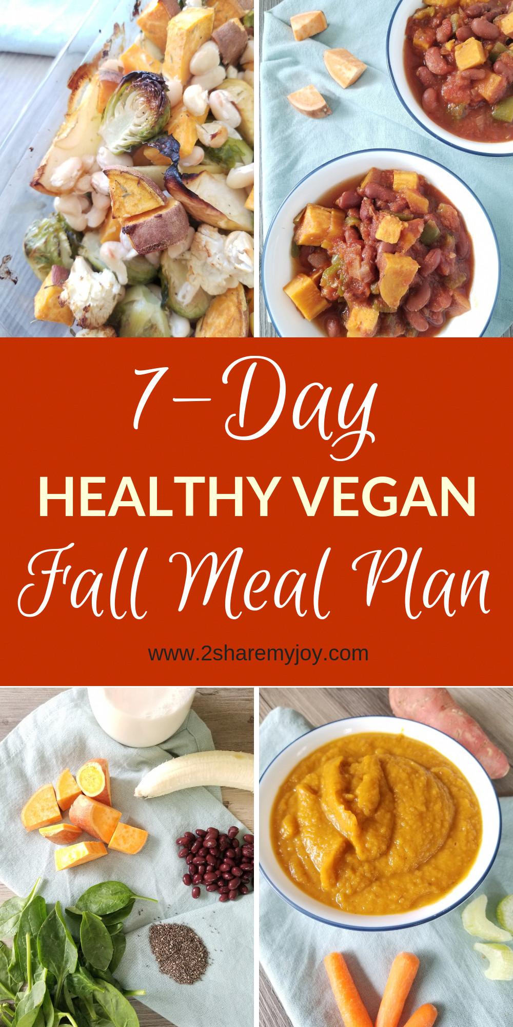 Vegan Diet Plan For Beginners  7 day healthy vegan fall meal plan great easy vegan meal