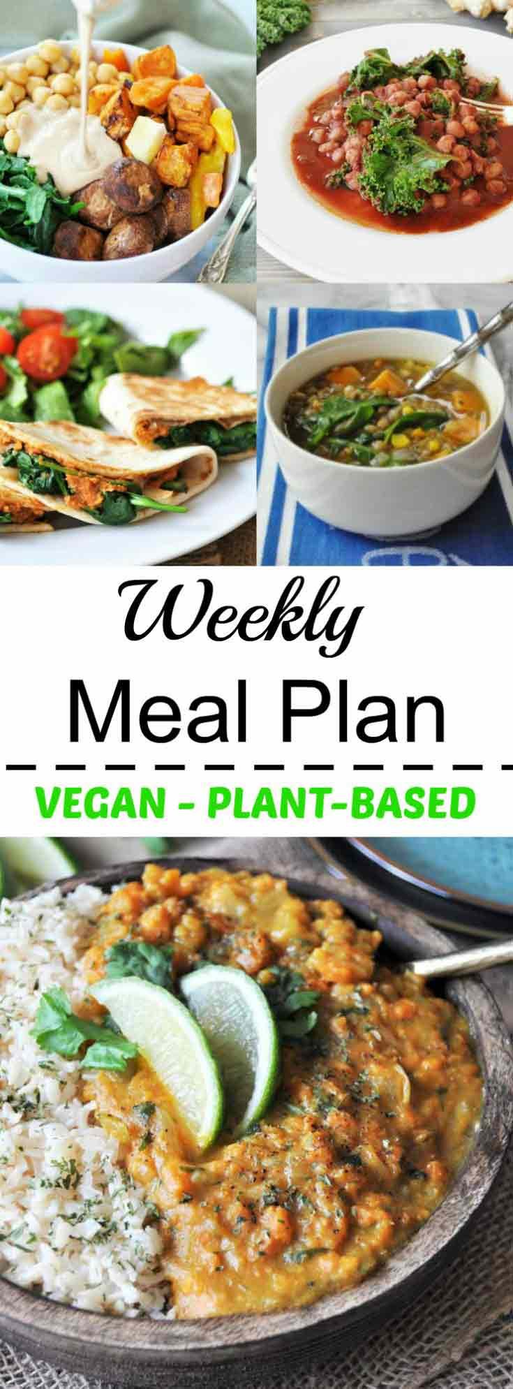 Vegan Plan Meal  Healthy Vegan Weeknight Meal Plan Veganosity