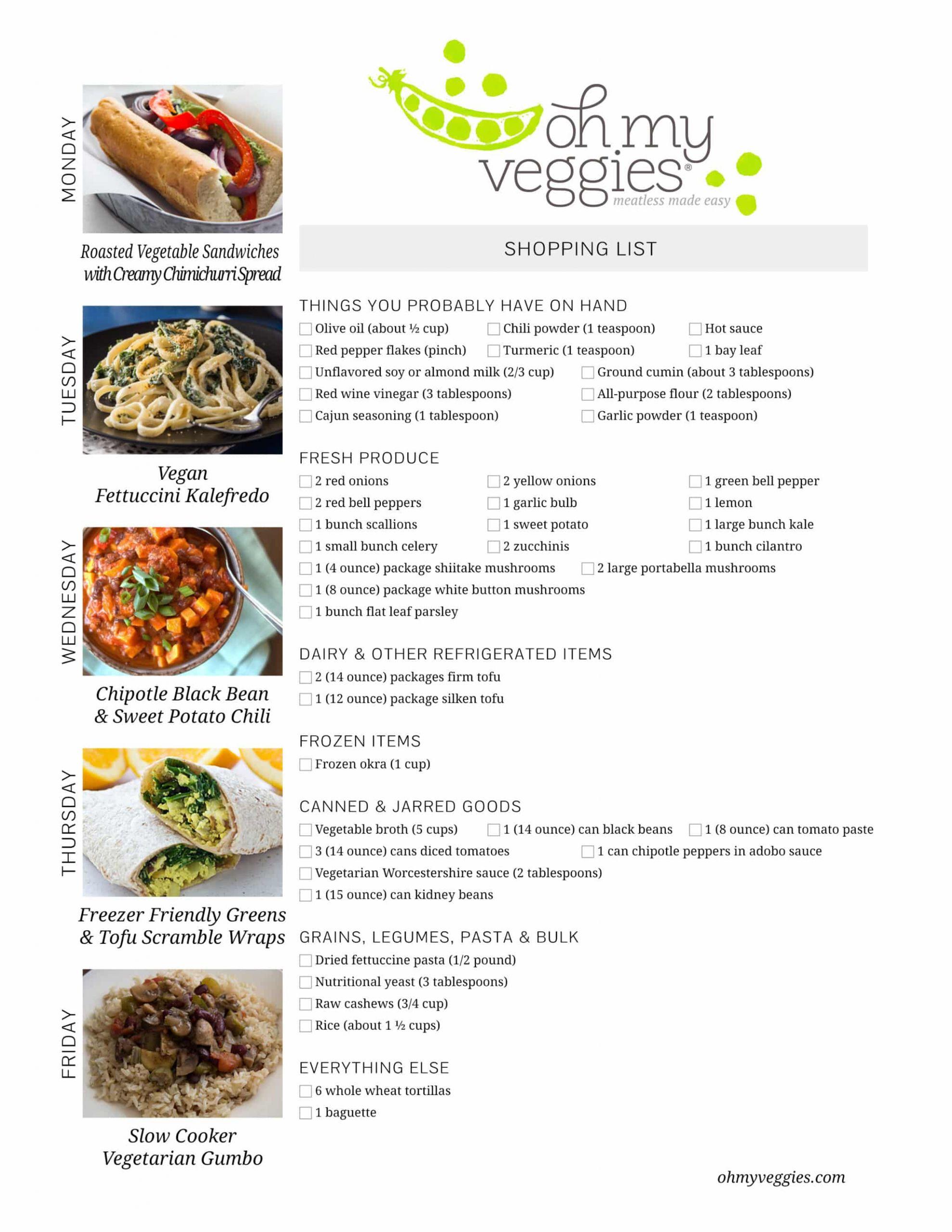 Vegan Plan Meal  Vegan Meal Plan